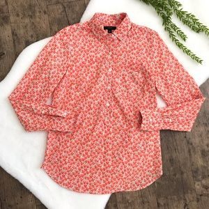 J. Crew Flowerpatch Print Floral Popover Top